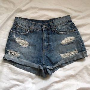 CARMAR high-waisted cutoff demon shorts